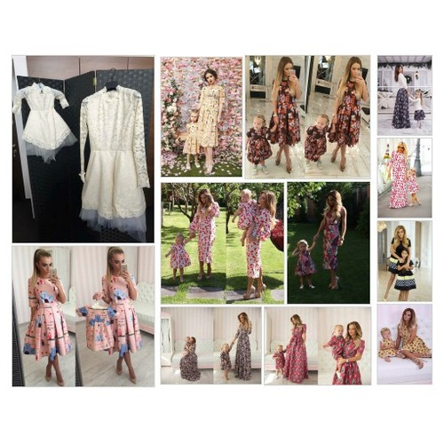 Mother and Daughter Matching Outfits #shopify @lilydressshop  #shopify #PromoteStore #PictureVideo @SharePicVideo