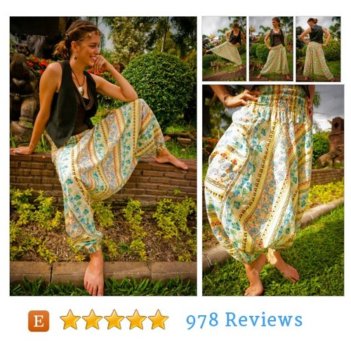 Thai Pants in Cotton, Batik, Pastel Colors #etsy @amonchaishop  #etsy #PromoteEtsy #PictureVideo @SharePicVideo