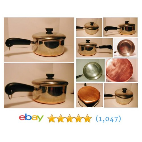 Vintage Revere Ware 2 Quart Pan with Lid Copper Bottom Stainless #ebay @some_of_this_or  #etsy #PromoteEbay #PictureVideo @SharePicVideo