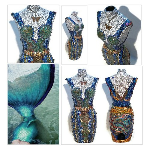 34 Inch Tall Mosaic Mannequin, Stained Glass Art Mannequin, Mosaic Statue, Jeweled, Beaded, Mermaid Mannequin, Glass Art #etsyspecialt  #SpecialTGIF @Flow_Rts @ArmoryRTs @Relay_RTs  #mosaicmannequin #Mosaicstatue #Stainedglassmannequin #Artmannequin #etsy #PromoteEtsy #PictureVideo @SharePicVideo