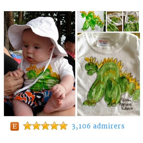 Puff the Magic Dragon Hawaii Kaua'i Hand Painted Shirt #etsykids #etsyspecialt #integritytt @EtsyLoveChild @EtsyRT #etsy #PromoteEtsy #PictureVideo @SharePicVideo