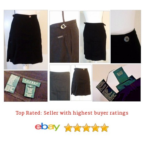 Lauren Ralph Lauren Women's #Skirt Size 10 Black Pockets Above Knee 100% Cotton | eBay #ALine #WomensClothing #etsy #PromoteEbay #PictureVideo @SharePicVideo
