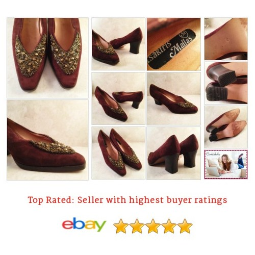 Vintage Size 7 M Brown Suede Pumps Beaded EUR38 Tsakiris Mallas Womens Shoes | eBay #Pump #Classic #TsakirisMalla #etsy #PromoteEbay #PictureVideo @SharePicVideo