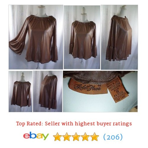 Gold Flava Shimmer Boho Blouse Women's Size 18 Measurements #ebay @thatssewbizarre  #etsy #PromoteEbay #PictureVideo @SharePicVideo