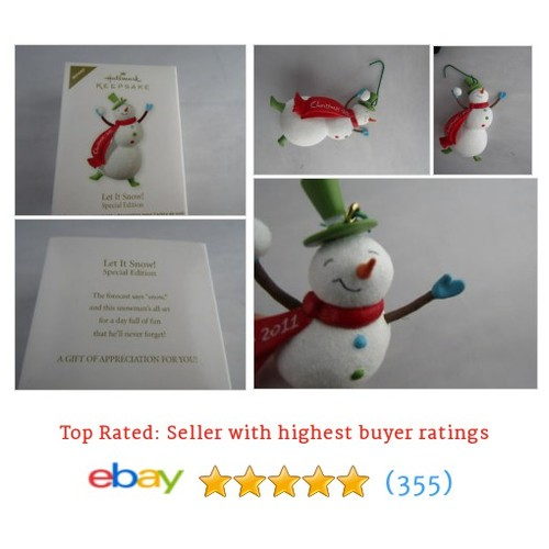 Hallmark Keepsake Ornament Let It Snow Snowman 2011 In The Box #ebay @4myfamily74  #etsy #PromoteEbay #PictureVideo @SharePicVideo