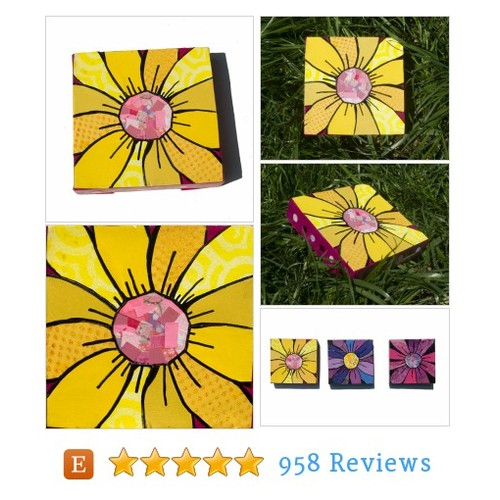 SALE - Yellow Gerber Daisy ART, yellow #etsy @claudineintner  #etsy #PromoteEtsy #PictureVideo @SharePicVideo