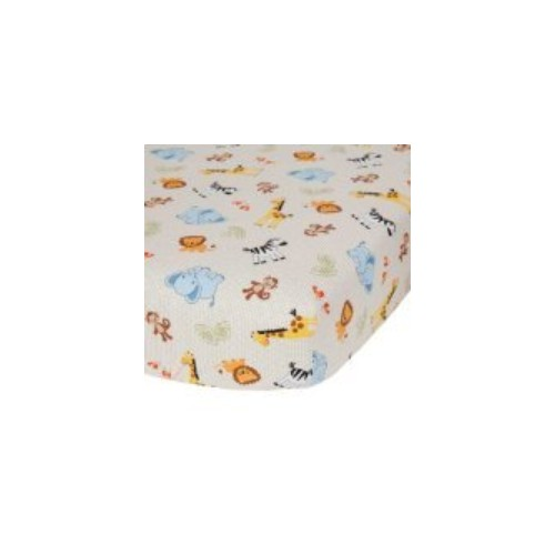 Bedtime Originals Jungle Buddies Sheet, Brown/Yellow  #socialselling #PromoteStore #PictureVideo @SharePicVideo
