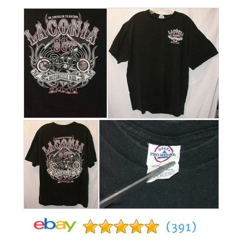 Lacania 88th Motorcycle Week 2011 T Shirt XL Harley Cotton Black Short Sleeve   | eBay #etsy #PromoteEbay #PictureVideo @SharePicVideo