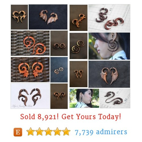 Fake Gauge Wood Etsy shop #etsy @ayujewelry https://www.SharePicVideo.com/?ref=PostPicVideoToTwitter-ayujewelry #etsy #PromoteEtsy #PictureVideo @SharePicVideo