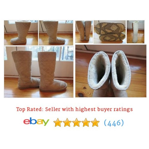 UGG Australia Women's Classic Tall Sheepskin Boots Light Brown #etsy #PromoteEbay #PictureVideo @SharePicVideo