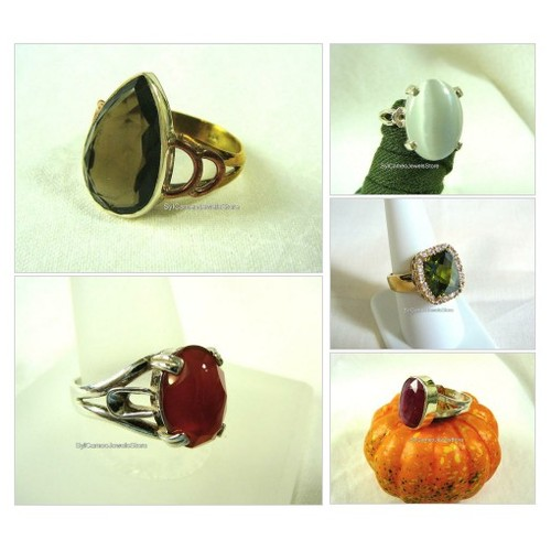 #Gemstones #Rings #Jewelry #HandCrafted #SylCameoJewelsStore #Etsyshop #etsyspecialt #Topaz #Carnelian #Ruby #CatsEye @PromoteGamers  #etsy #PromoteEtsy #PictureVideo @SharePicVideo