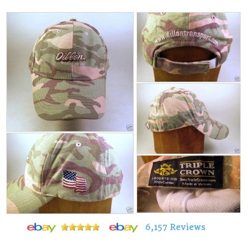 DILLON TRANSPORT Cap  Pink Camoflauge Camo Trucking TRIPLE CROWN #BaseballCap #MensAccessory #etsy #PromoteEbay #PictureVideo @SharePicVideo