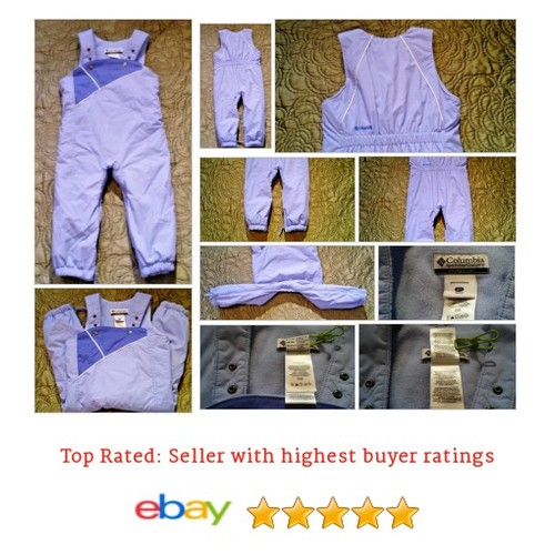 Columbia Girls #Snow #Overalls Size 3t #Lavender Purple Adjustable Straps Insulated #Snowsuit #Columbia #Outerwear #etsy #PromoteEbay #PictureVideo @SharePicVideo
