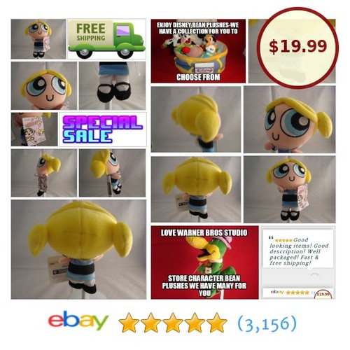 WARNER BROS STORE-POWDERPUFF GIRLS BUBBLES BEAN PLUSH-7 IN-NEW WITH TAG-2001 | eBay #WARNERBROSSTUDIOSTORE #etsy #PromoteEbay #PictureVideo @SharePicVideo