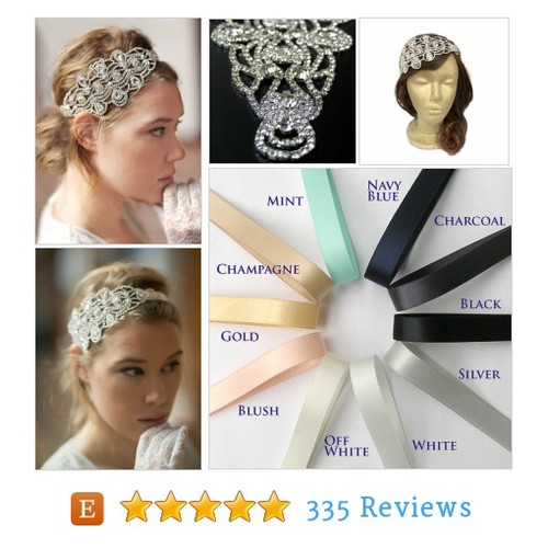 Gatsby Headpiece Silver Great Gatsby #etsy @curtainroad  #etsy #PromoteEtsy #PictureVideo @SharePicVideo