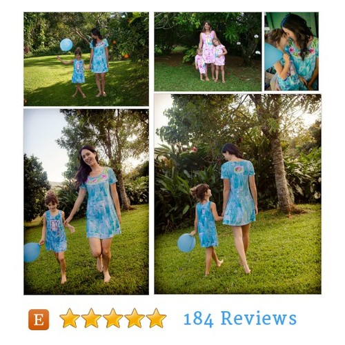 Mother Daughter Dresses Hawaii Hand Painted #epiconetsy #etsymntt  #TIntegrityT @EtsySocial @MDFDRetweets @EarthRT #etsy #PromoteEtsy #PictureVideo @SharePicVideo