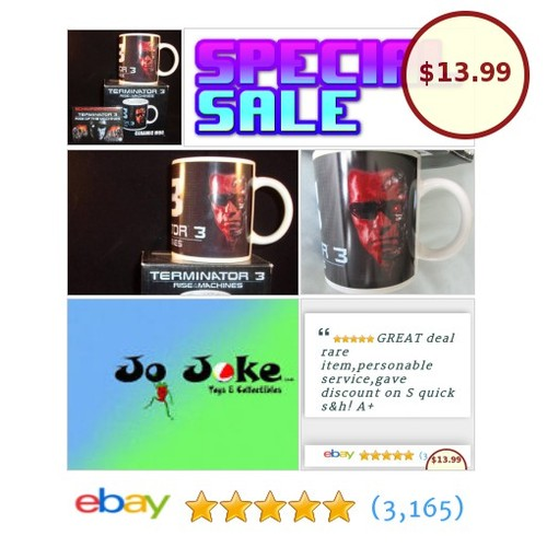 TERMINATOR 3 CERAMIC MUG-RISE OF THE MACHINES-BOX-2003-NECA-BLINKIN FILM BADGE | eBay  #etsy #PromoteEbay #PictureVideo @SharePicVideo