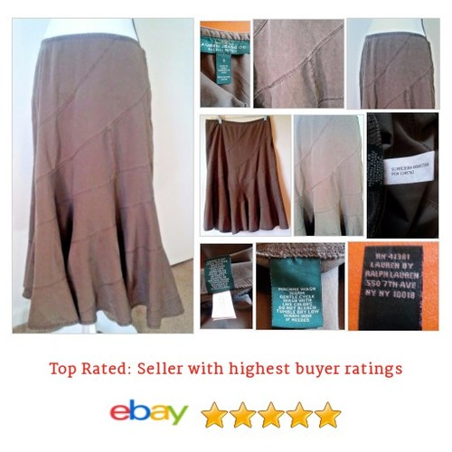 Ralph Lauren #Skirt Size 6 Brown Patchwork Denim Long Spring Summer Fun Cotton | eBay #Pleated #WomensClothing #etsy #PromoteEbay #PictureVideo @SharePicVideo