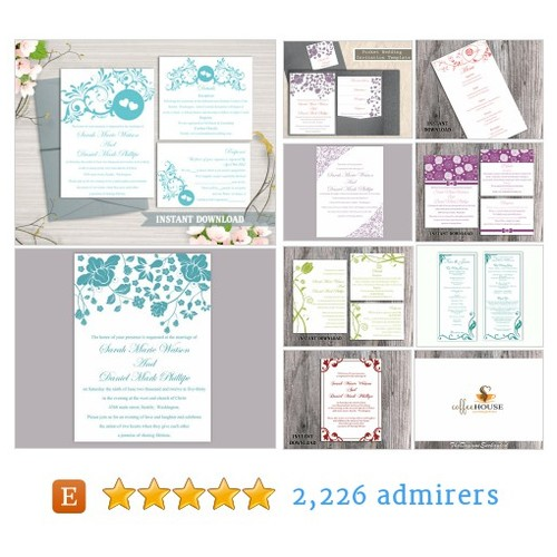 DIY Printable Wedding Template Logo Programs Menus etc. by TheDesignsEnchanted Etsy shop @designenchanted #etsy #PromoteEtsy #PictureVideo @SharePicVideo