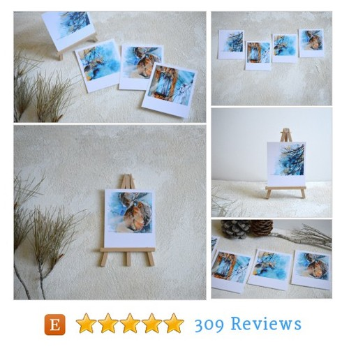Postcard Set, Blue Winter Inspired #etsy @svirita  #etsy #PromoteEtsy #PictureVideo @SharePicVideo