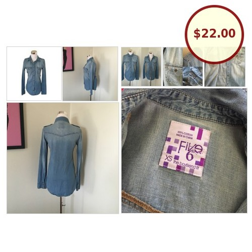 Chambray Button Up @em_closet21 https://www.SharePicVideo.com/?ref=PostPicVideoToTwitter-em_closet21 #socialselling #PromoteStore #PictureVideo @SharePicVideo
