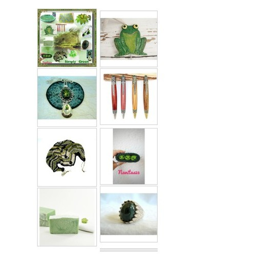 ~Simply Green~ #Crazy4Etsy #Specialt #etsy #polyvore #gifts  #socialselling #PromoteStore #PictureVideo @SharePicVideo