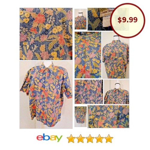 #CookeStreetHonolulu #Floral #HawaiianShirt Size XL #mensfashion #fathersday #1Dad | eBay #CookeStreet #Aloha #etsy #PromoteEbay #PictureVideo @SharePicVideo