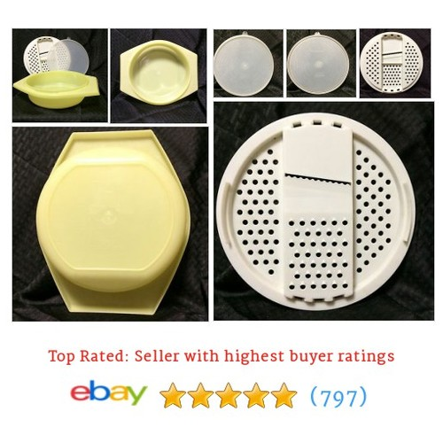 Tupperware Sunshine Yellow Bowl Grater Slicer Shredder  @jerseybabes #ebay  #etsy #PromoteEbay #PictureVideo @SharePicVideo