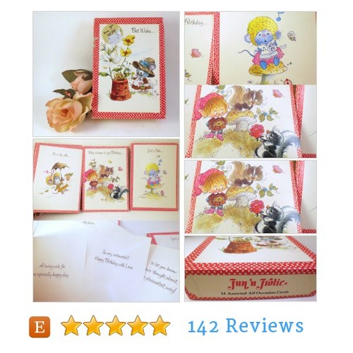 Vintage USA Unused Box 9 Greeting Cards All Occasion Giordano #Paper #GreetingCard #etsy #PromoteEtsy #PictureVideo @SharePicVideo