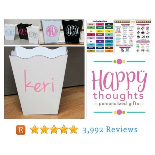 Monogrammed Trash Can - Personalized Trash #etsy @myhappythoughts  #etsy #PromoteEtsy #PictureVideo @SharePicVideo