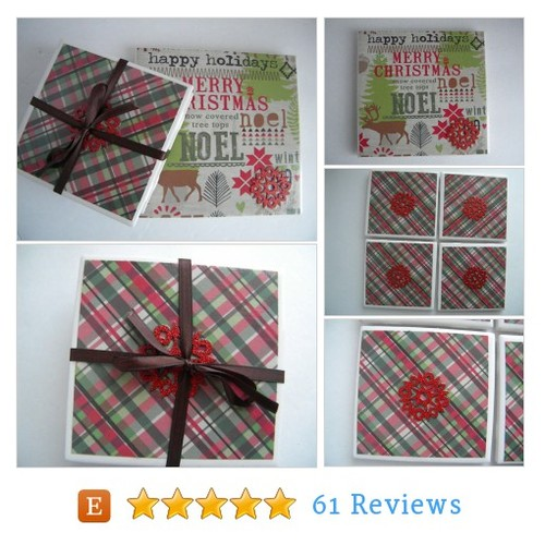 Merry Christmas! Noel! Trivet and 4 #etsy @madeloncorcoran  #etsy #PromoteEtsy #PictureVideo @SharePicVideo
