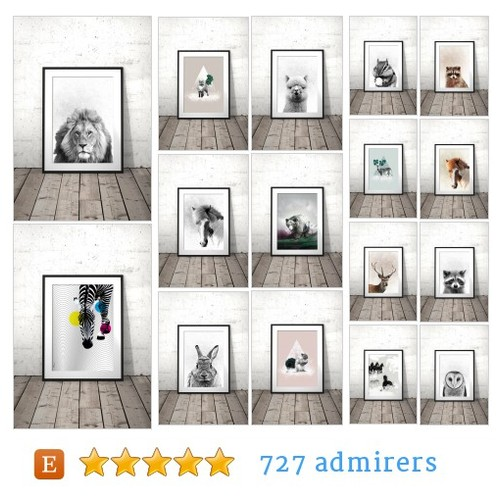 ANIMALS #etsy shop #animal @printsproject  #etsy #PromoteEtsy #PictureVideo @SharePicVideo