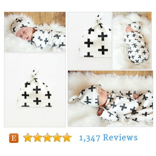 Black Cross Knotted Baby Hat #etsy @rebelandheart13  #etsy #PromoteEtsy #PictureVideo @SharePicVideo