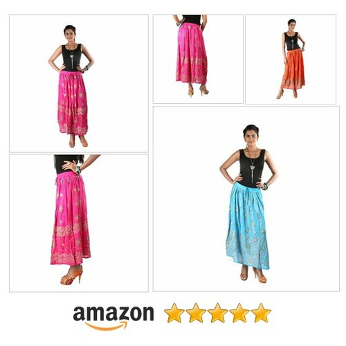 Indiankala4u Ethnic Design Crushed Cotton Long Skirt, Fuchsia Pink @indiankala4u https://SharePicVideo.com?ref=PostVideoToTwitter-indiankala4u #socialselling #PromoteStore #PictureVideo @SharePicVideo