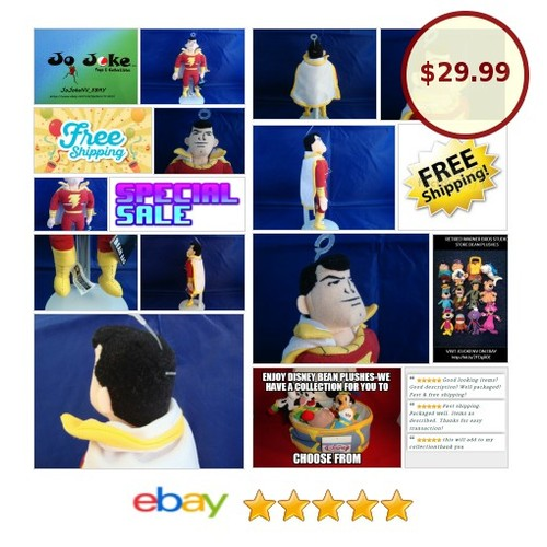 WARNER BROS STUDIO STORES-SHAZAM-10 INCH-BEAN PLUSH-HERO OUTFIT-NEW/TAGS-1999!! | eBay #WARNERBROSSTUDIOSTORE #etsy #PromoteEbay #PictureVideo @SharePicVideo