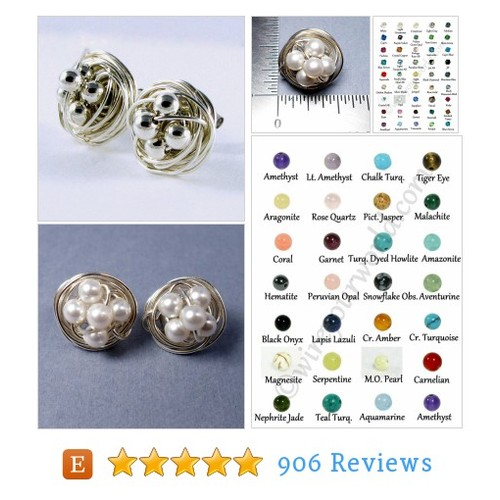 Sterling Silver Stud Earrings Wire Wrapped #etsy @wireyourworld  #etsy #PromoteEtsy #PictureVideo @SharePicVideo