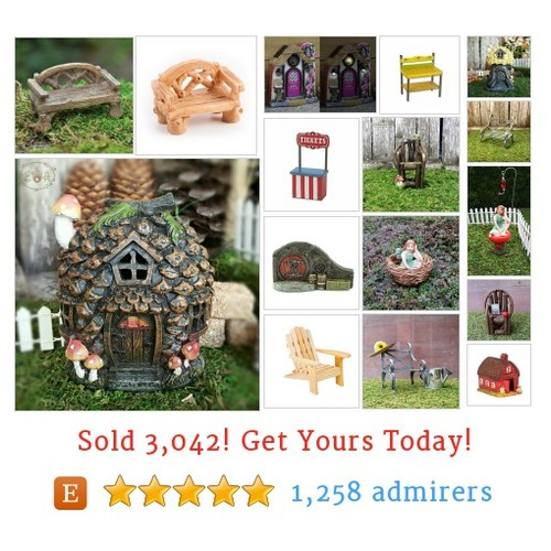 Fairy Houses & Furniture Etsy shop #etsy @enchantedacorn  #etsy #PromoteEtsy #PictureVideo @SharePicVideo