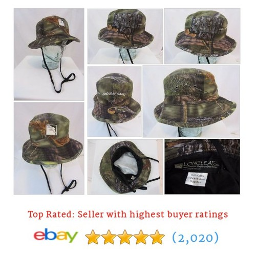 LONGLEAF Camouflage Military Style Camo Boonie Hat - Small 53 cm / 21 #ebay @pattisattic  #etsy #PromoteEbay #PictureVideo @SharePicVideo