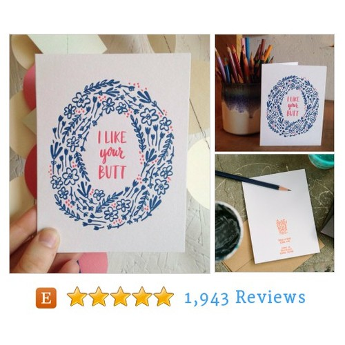 I Like Your Butt Card #paper #partysupply #etsy @fntpress  #etsy #PromoteEtsy #PictureVideo @SharePicVideo