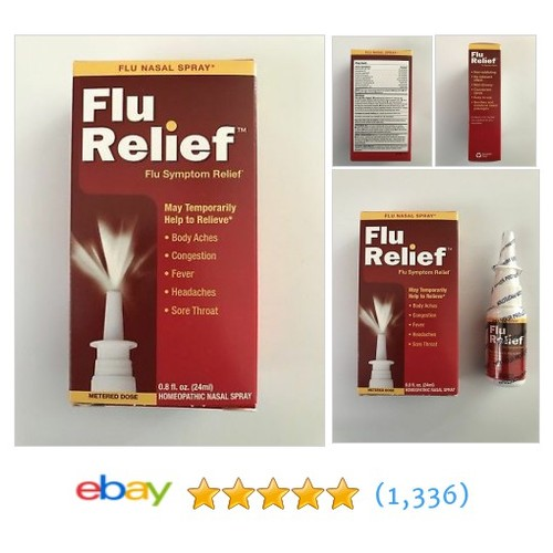 Homeopathic Flu Symptom Relief Nasal Spray 0.08 fl. oz. by NatraBio Metered Dose  | eBay #etsy #PromoteEbay #PictureVideo @SharePicVideo