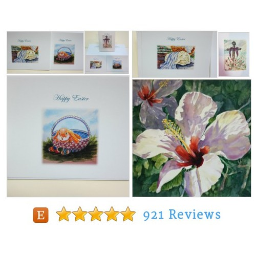 Easter note cards 4.5 x 5.5, Set of 6 - #etsy @waterrox  #etsy #PromoteEtsy #PictureVideo @SharePicVideo