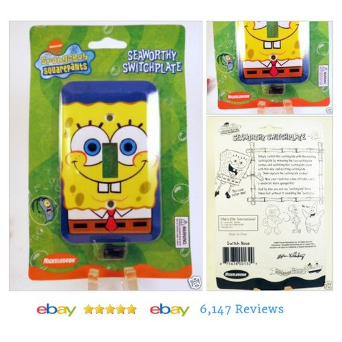 Spongebob Squarepants Light Switch Plate Cover Room Decor Seaworthy Kids Boys #Nickelodeon # #etsy #PromoteEbay #PictureVideo @SharePicVideo
