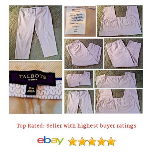 Talbots Women's Pants Size 16W Plus Cotton Blend Beige Chinos Work Casual Spring | eBay #Pant #Khaki #Chino #etsy #PromoteEbay #PictureVideo @SharePicVideo