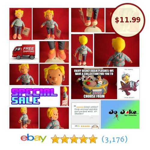 "DISNEY-""Patti"" Mayonnaise-DOUG- BEAN PLUSH-8""-RETIRED-DISNEY STORE-NEW/TAGS-COOL 