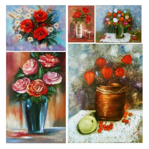 Exclusive Original oil Paintings floral by ArtBuyOnline Etsy shop #etsy #PromoteEtsy #PictureVideo @SharePicVideo