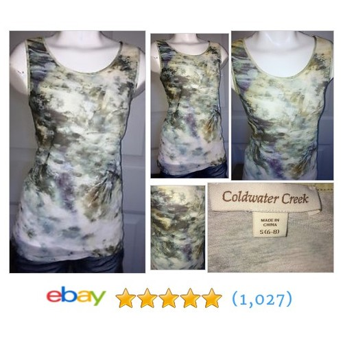 Coldwater Creek Women's Small (6-8) Blouse Sleeveless Shear Top #ebay @carman_cole  #etsy #PromoteEbay #PictureVideo @SharePicVideo
