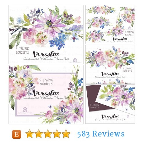 Watercolour Flower Clip Art Collection - #etsy @smallhousebigpo  #etsy #PromoteEtsy #PictureVideo @SharePicVideo