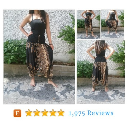 Black Jumpsuit & Drop Crotch Harem Pants #etsy @tribalspiritshp  #etsy #PromoteEtsy #PictureVideo @SharePicVideo