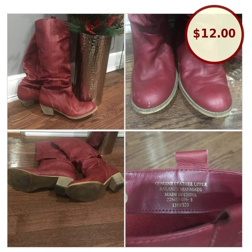 Red Genuine leather boots @cupoftee1 https://www.SharePicVideo.com/?ref=PostPicVideoToTwitter-cupoftee1 #socialselling #PromoteStore #PictureVideo @SharePicVideo