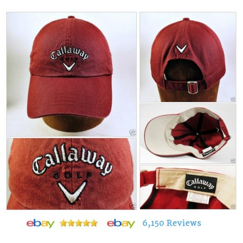 CALLAWAY GOLF Baseball Cap Adj #Hat Sport Burgundy Advertising #BaseballCap #CallawayGolf #etsy #PromoteEbay #PictureVideo @SharePicVideo